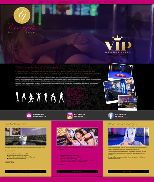 cairns nightclub website design