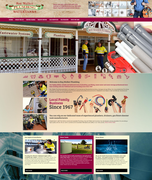 cairns plumber website design