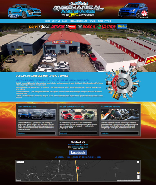 cairns mechanic website design