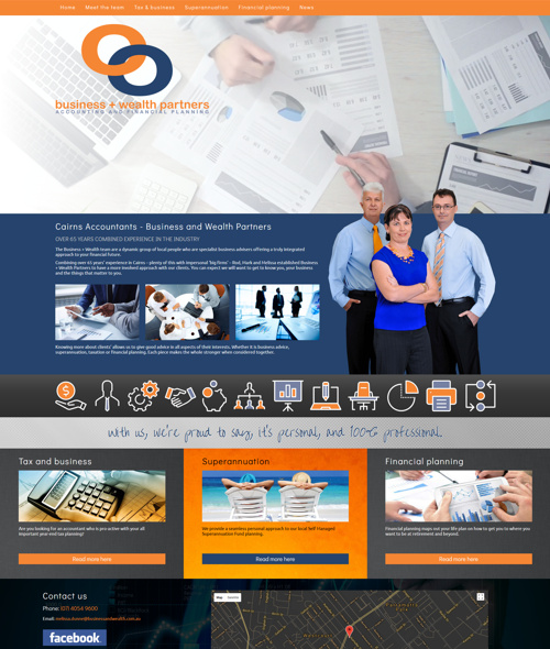 website design for cairns accountant