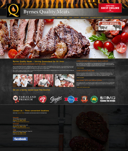 website design for cairns butcher