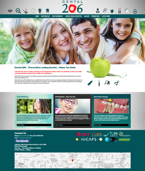 townsville dentist website design