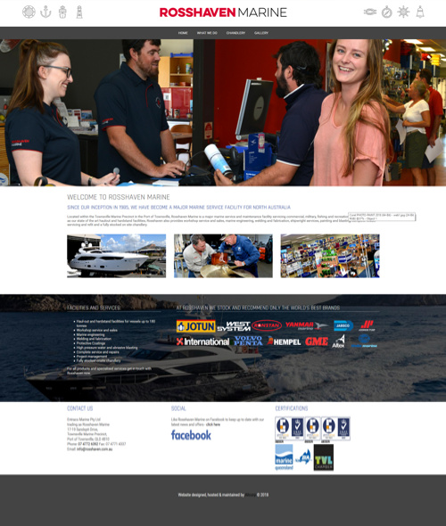 Townsville website design for engineer