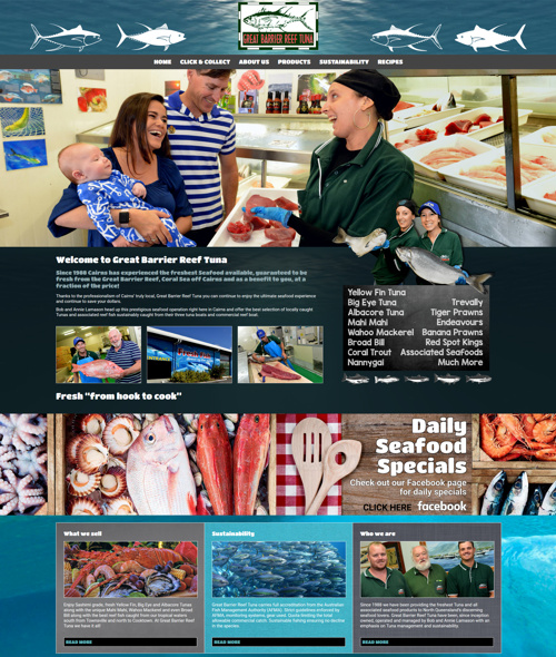 Cairns fish monger website design